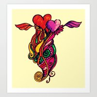 Hearts Can Fly Art Print