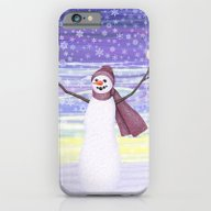 Snowman With Tufted Titm… iPhone 6 Slim Case