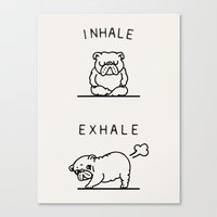 Inhale Exhale English Bu… Canvas Print