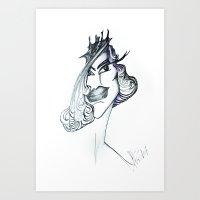 Unfinished Girl Art Print
