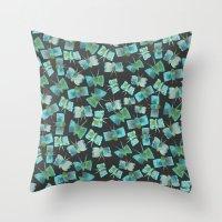 Moody Blue Butterflies Throw Pillow