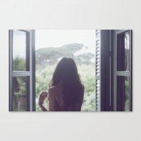 Una habitación con vistas Canvas Print