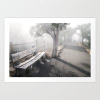 Mists Before the Trail of Time Art Print