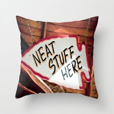 Neat Stuff Here Throw Pillow