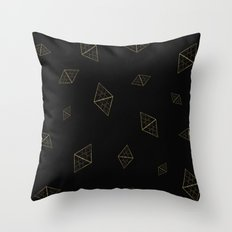 Golden Crystals Throw Pillow