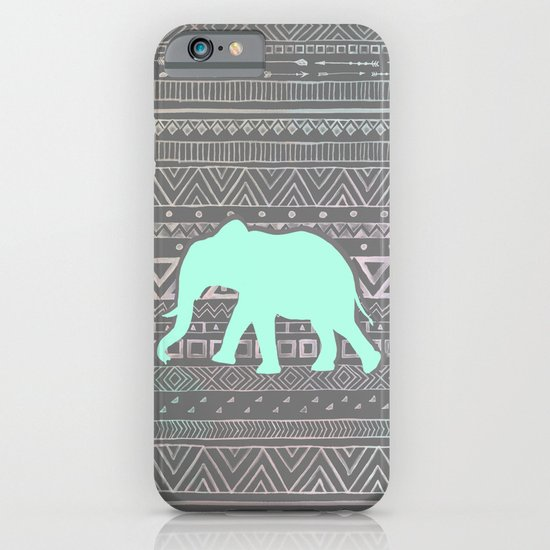 Mint Elephant  iPhone & iPod Case