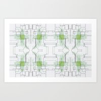 Circuit Board Green Repe… Art Print