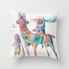 colour nomads Throw Pillow