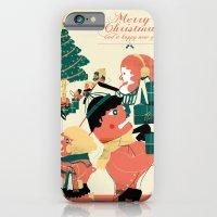 CHRISTMAS POSTCARD iPhone 6 Slim Case