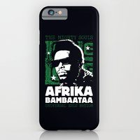 iPhone & iPod Case featuring The Mighty Souls: Afrika Bambaataa by Damien Koh