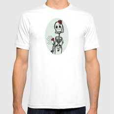 Love and bones SMALL White Mens Fitted Tee