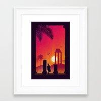 Fading Empire Framed Art Print
