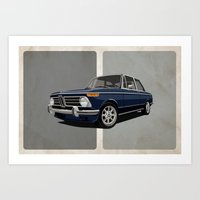 BMW 2002 - Dark Blue Art Print