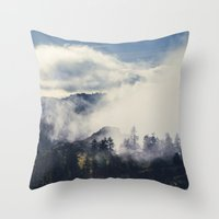 Mountain Clouds Throw Pillow