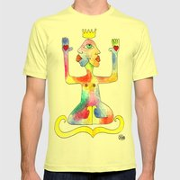 TIGNA REALE Mens Fitted Tee Lemon SMALL