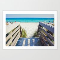 Destin Beach Art Print