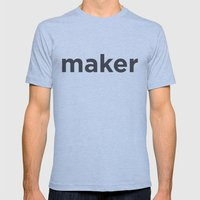 Maker Mens Fitted Tee Athletic Blue SMALL