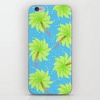Pattern of Palm Tree-like Flowers iPhone & iPod Skin