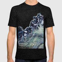 Gauley River Blues Mens Fitted Tee Tri-Black SMALL