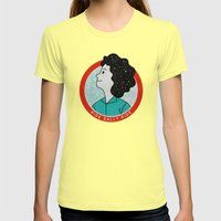 Ride Sally Ride Womens Fitted Tee Lemon SMALL