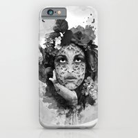 Abstract Portrait Blk/Wh… iPhone 6 Slim Case