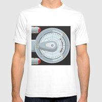 Enterprise - Star Trek Mens Fitted Tee White SMALL