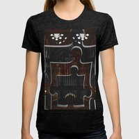 Distracting a Ghost: 1st Rendition  Womens Fitted Tee Tri-Black SMALL