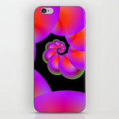 Spiral Spheres in Red Pink and Green iPhone & iPod Skin