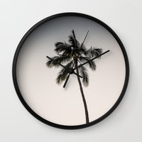 Palm Tree Ver.charcoal Wall Clock