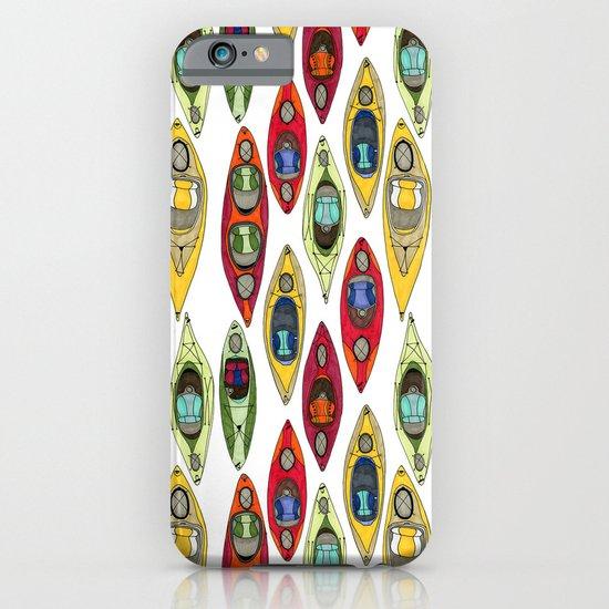 I Heart Kayaks Pattern iPhone & iPod Case