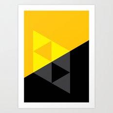 Light and Dark Triforce Art Print