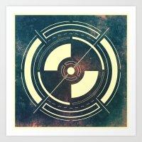 Space Circle Art Print