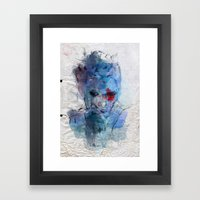 Blue Lover Framed Art Print