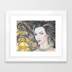 Nikki Benz Acrylic Portrait by AdamValentinoArt Framed Art Print