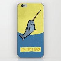 I Wish I Was A Unicorn iPhone & iPod Skin