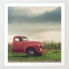 The Farm Truck Art Print