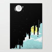 GoodBye! Sun. Canvas Print