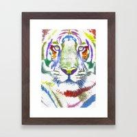 ROAR (tiger color version) Framed Art Print