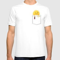 Pocketful of sunshine SMALL Mens Fitted Tee White