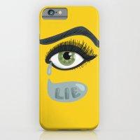 Green Lying Eye With Tears iPhone 6 Slim Case