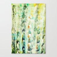 Greenish Abstract Canvas Print