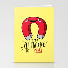 I'm Attracted To You Stationery Cards