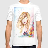 lady in bloom  Mens Fitted Tee White SMALL