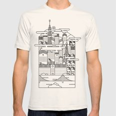 TOKYO Mens Fitted Tee Natural SMALL