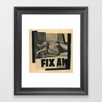 Temporary Fix Framed Art Print