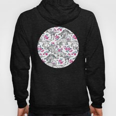 Dinosaurs and Roses - white Hoody