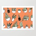 Succulents Party Art Print