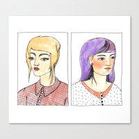 Fancy hair pair Canvas Print