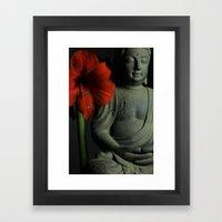 Amaryllis Buddha Framed Art Print