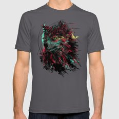 N WOlfie Mens Fitted Tee Asphalt SMALL